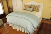 <h5>Custom Bedskirt & Bedding</h5>