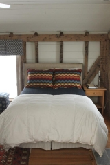 <h5>Custom Pillows & Headboard</h5>