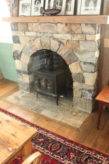 <h5>Stone Fireplace Detail</h5>