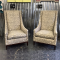 <h5>Extra Tall Animal Print Chairs</h5>