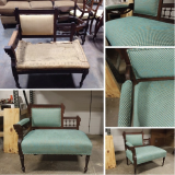 <h5>Turquoise Telephone Chair</h5>
