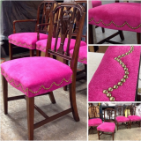 <h5>Pink & Gold Nailhead Dining</h5>