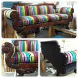 <h5>Striped English Regency Sofa</h5>