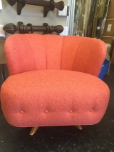 <h5>Coral Vintage Shell Barrel Chair</h5>