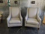 <h5>Classic Grey Arm Chairs</h5>