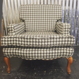 <h5>Grey Houndstooth Chair</h5>