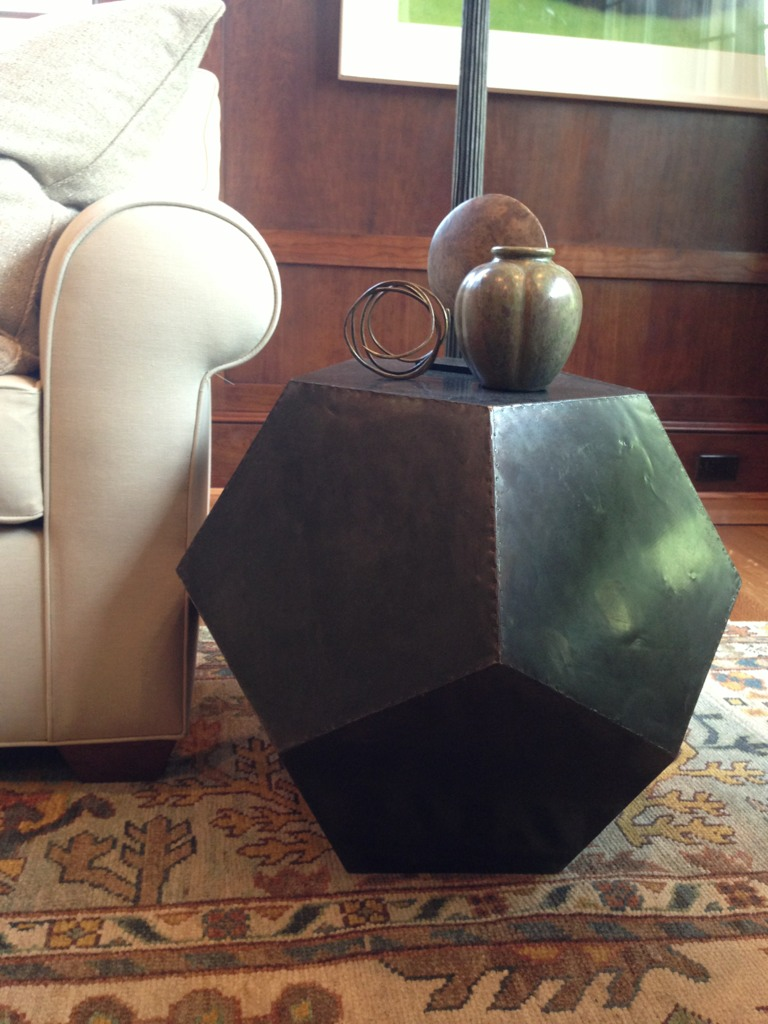 This Weighty Geometric Table Also Caught My Eye