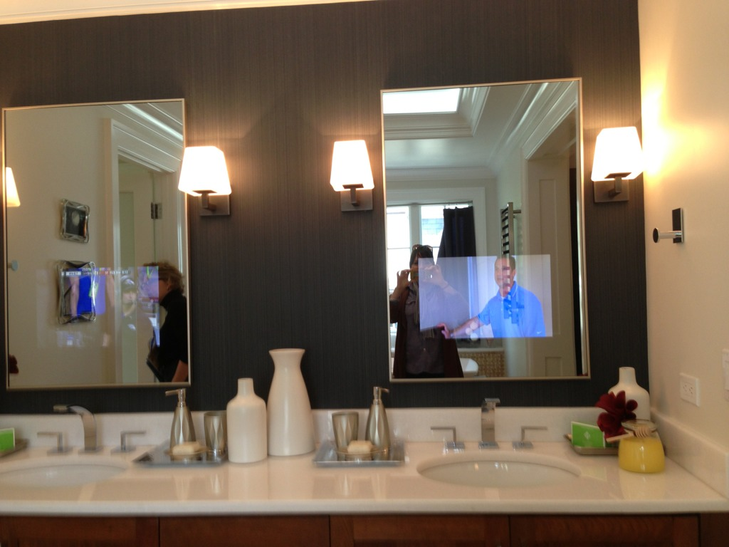 Bathroom Mirrors With Tv Built In Fantastic Gray Bathroom Mirrors With Tv Built In Style