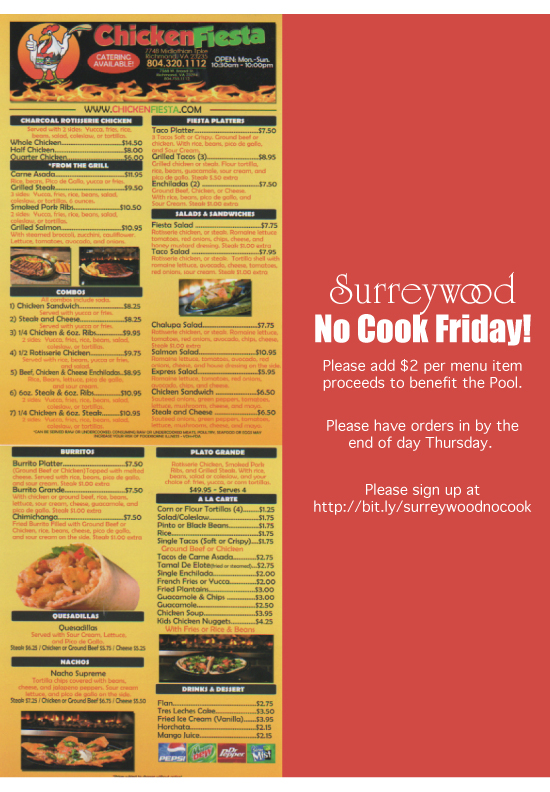 Surreywood No Cook Friday