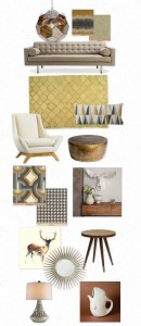 U-Fabulous Mood Board: Grey & Gold Greetings