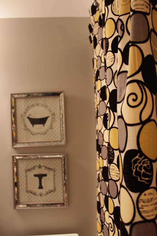 Nice Black And Gold Shower Curtains Ideas