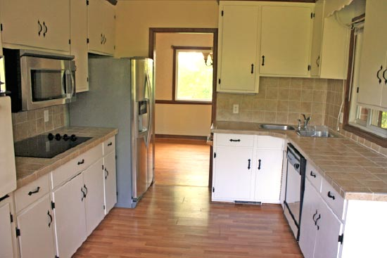 Our kitchen was a major under taking.  A total gut and remodel from the original kitchen, seen here.